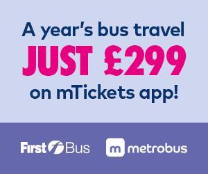 A year's bus travel just £299 on mTickets app