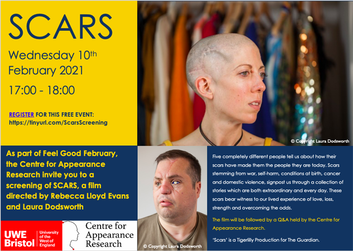 SCARS Virtual Screening and Q&A with the Centre for Appearance Research