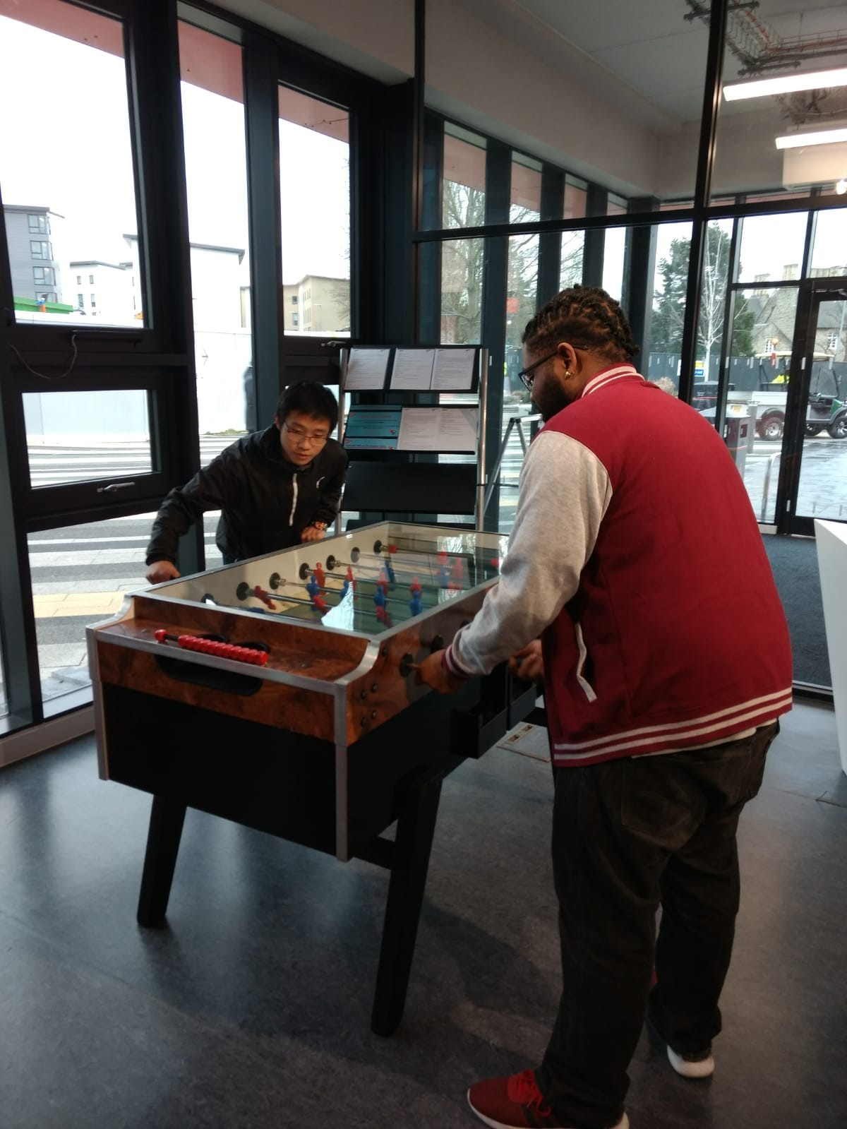 image of a table football match