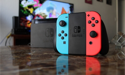 image of a nintendo switch console