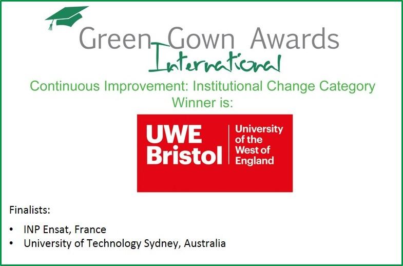 UWE Bristol Triumph at International Green Gown Awards | The ...
