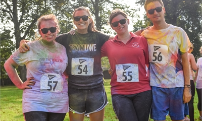 The Students' Union Officers Raise Money for Papyrus at The Glenside Colour Run